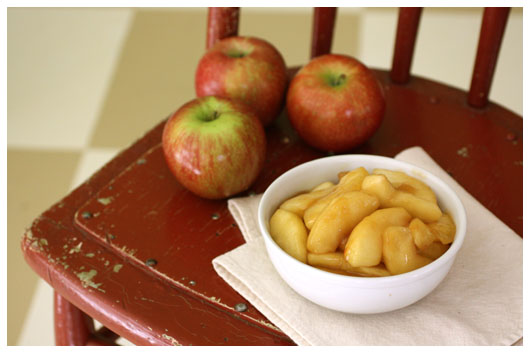 Sauteed Apples, Pears or Peaches