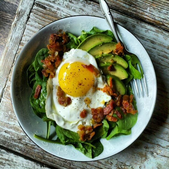 Fried Egg and Avocado Salad